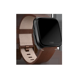 Viedpulksteni Fitbit Versa Accessory Leather Band Cognac - Small