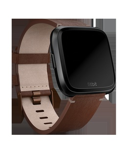 Viedpulksteni Fitbit Versa Accessory Leather Band Cognac - Small  Hover